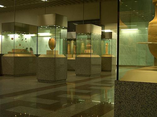 Exemple de musée métro à Athènes