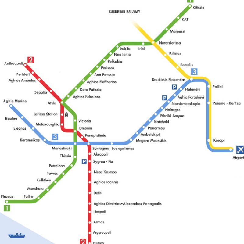 Plan Metro Athenes
