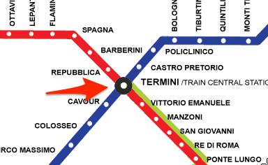 Plan Station Termini Metro Rome