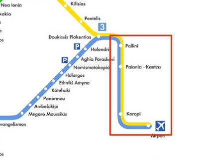 Stations Métro Proches Aéroport Athènes