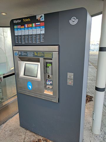Distributeur automatique billet metro Stockholm