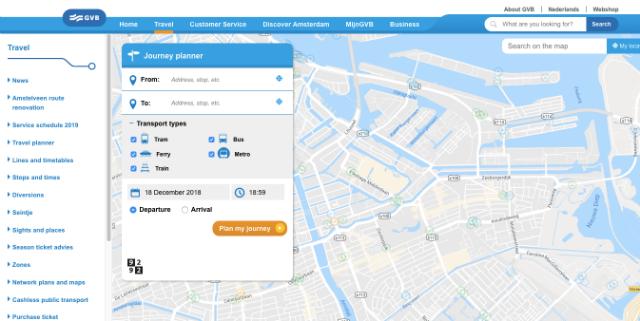 Itinéraire Metro Amsterdam