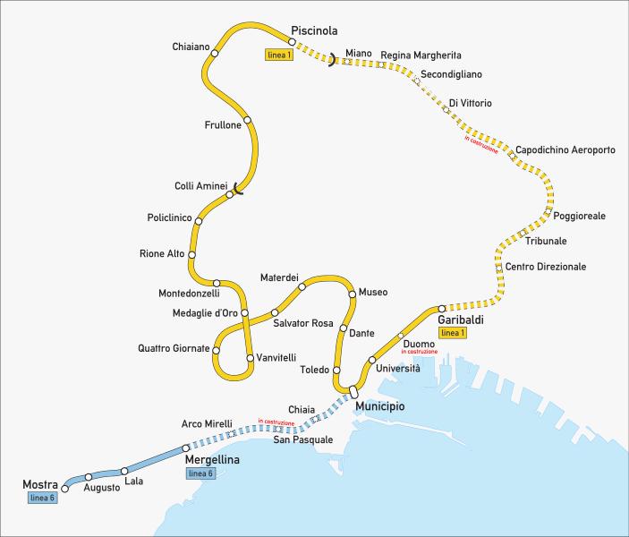 Plan Metro Naples