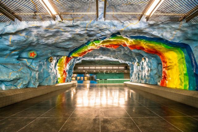 Belle station métro Stockholm