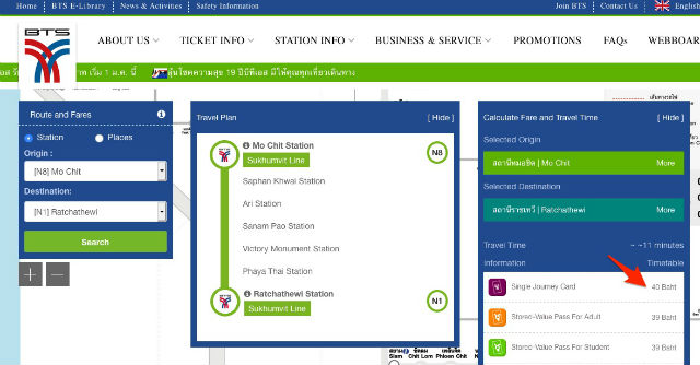 Métro Bangkok (Strytrain BTS & MRT) 2019 : Plan, Carte, Prix