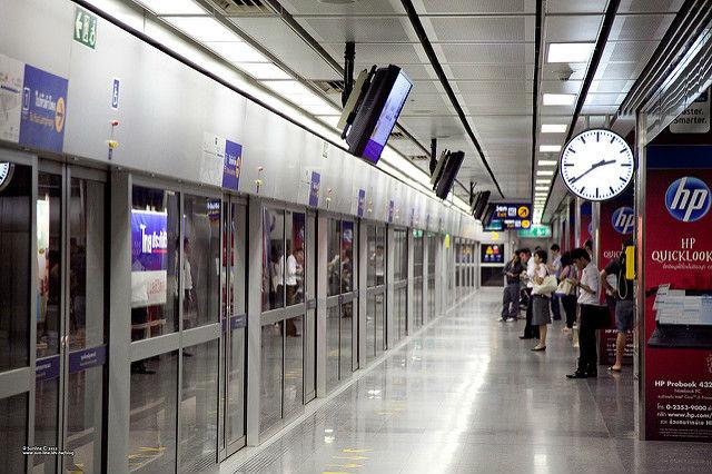 Le métro souterrain de Bangkok (régie MRT)