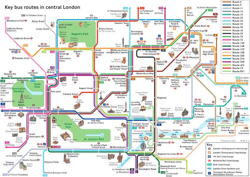 Plan metro avec monuments