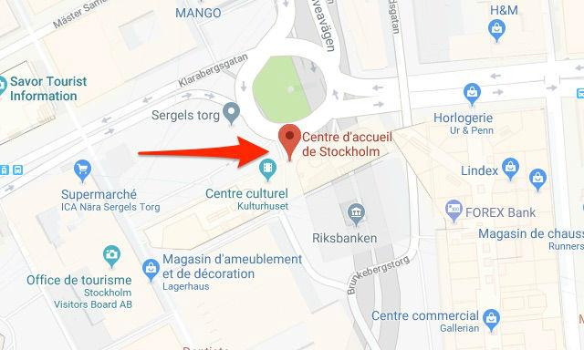 Point retrait Stockholm Pass