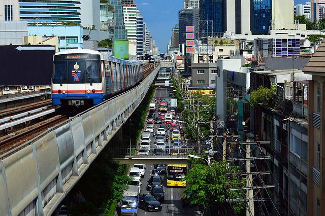 Skytrain Bangkok - le métro aérien (régie BTS)