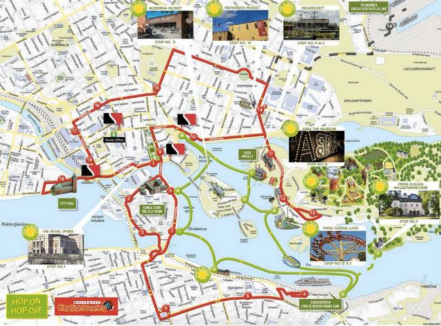 Itinéraire circuit bus stockholm