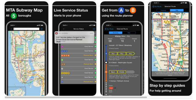 Application Plan Metro New York pour iPhone