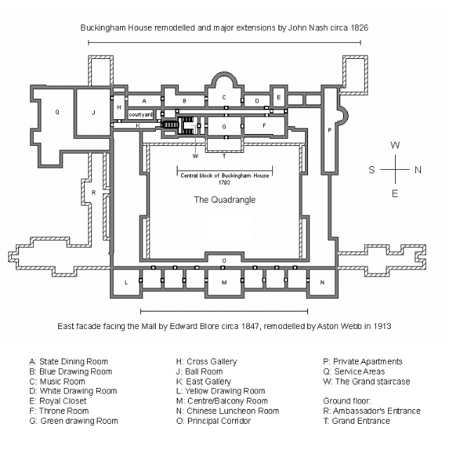 Buckingham Palace Plan