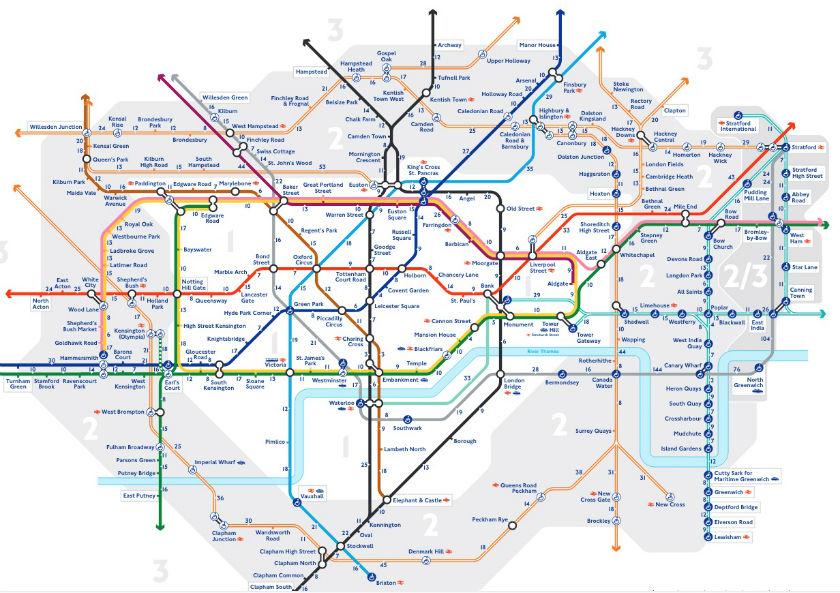 plan distance entre les stations