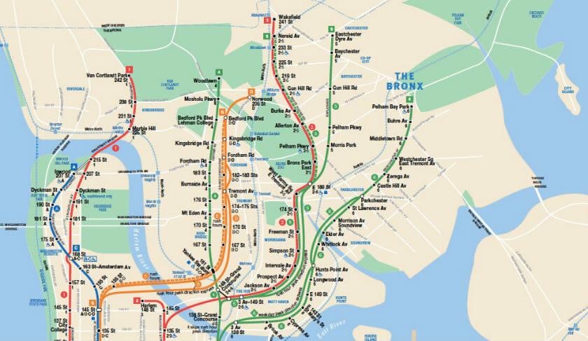 Plan Metro Bronx New York