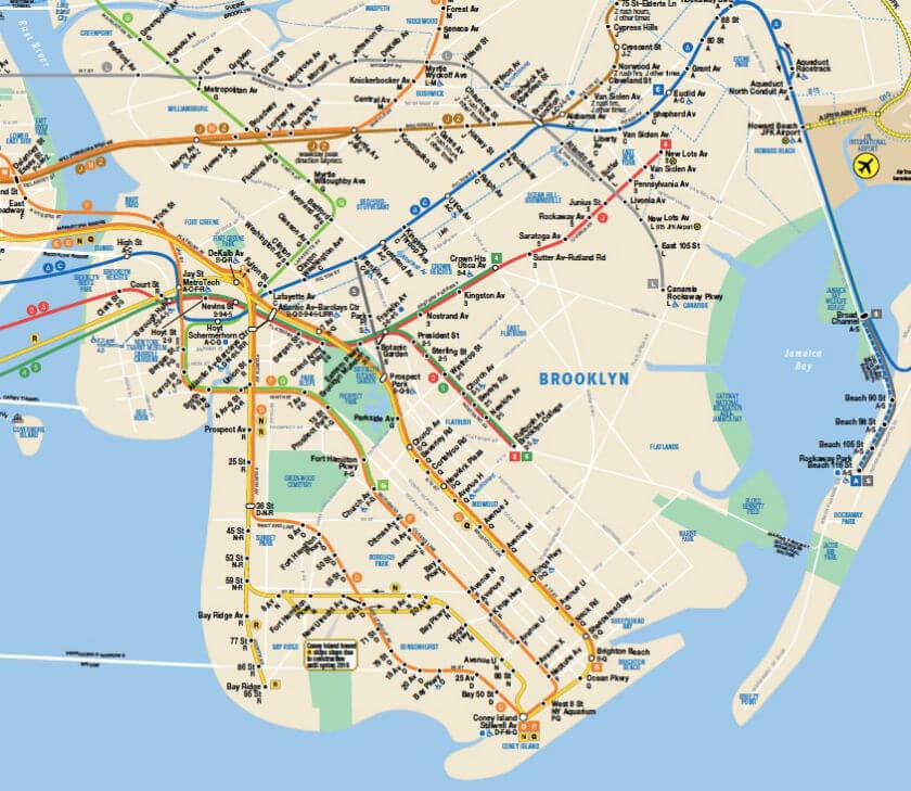 Plan Metro Brooklyn New York