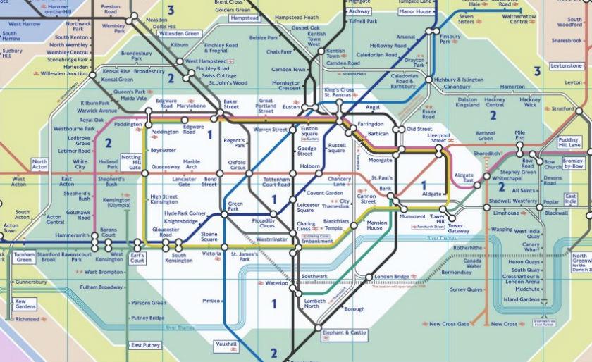 plan metro londres zone 1 et 2