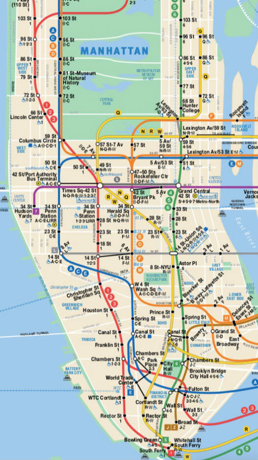 Plan Metro Manhattan
