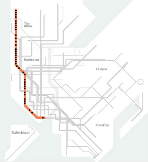 Plan Metro New York Ligne 1