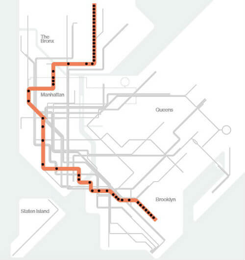 Plan Metro New York Ligne 2