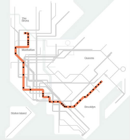 Plan Metro New York Ligne 3