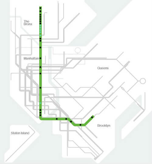 Plan Metro New York Ligne 4