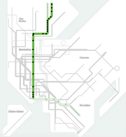 Plan Metro New York Ligne 5