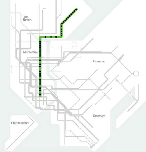 Plan Metro New York Ligne 6