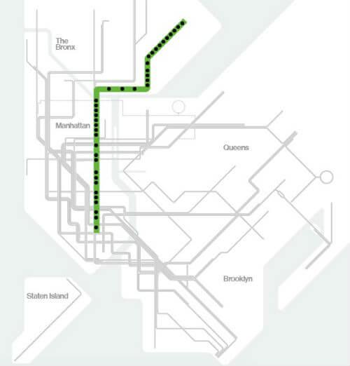 Plan Metro New York Ligne 6