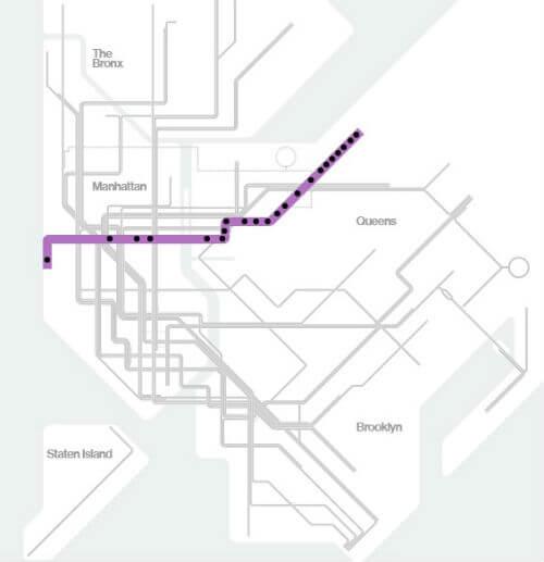 Plan Metro New York Ligne 7