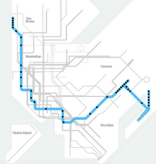 Plan Metro New York Ligne A