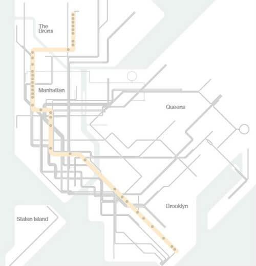 Plan Metro New York Ligne B