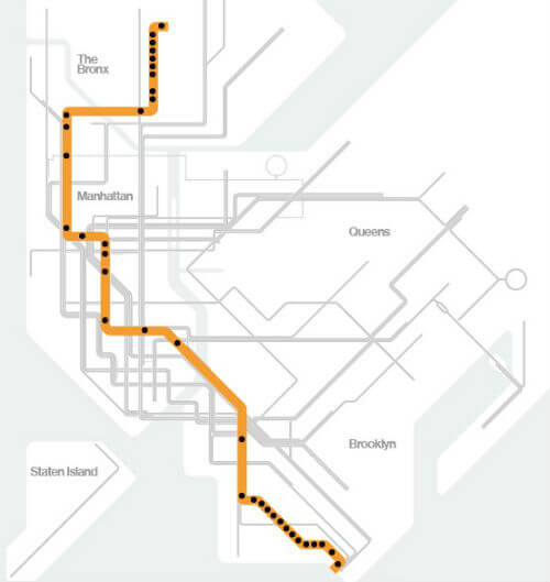 Plan Metro New York Ligne D