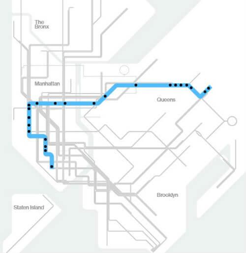 Plan Metro New York Ligne E