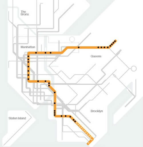 Plan Metro New York Ligne F
