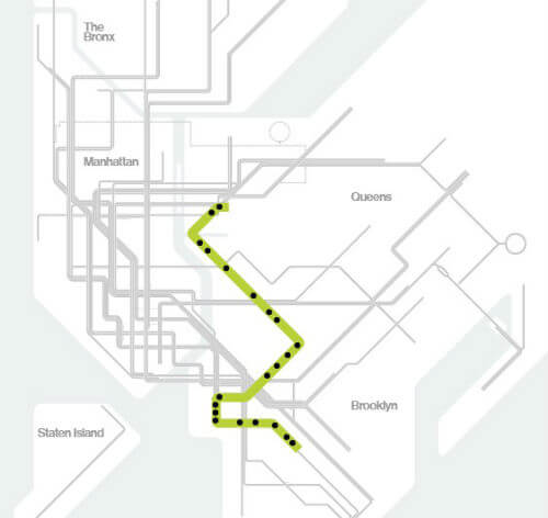 Plan Metro New York Ligne G