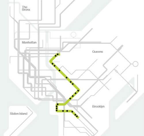 Plan Metro New York Ligne G