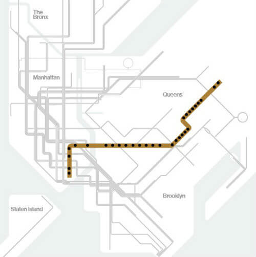 Plan Metro New York Ligne J