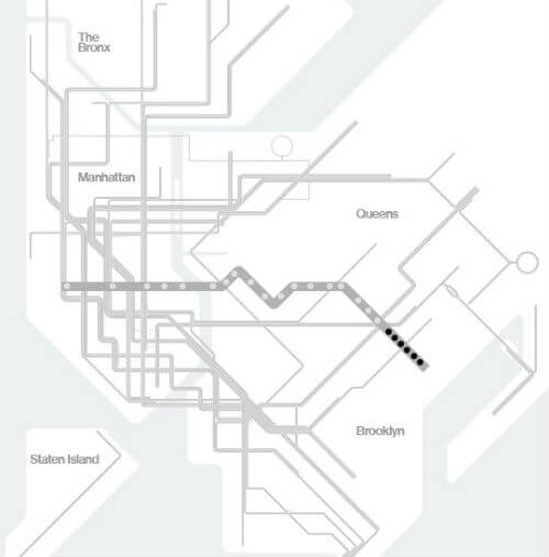 Plan Metro New York Ligne L