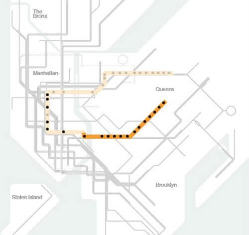 Plan Metro New York Ligne M