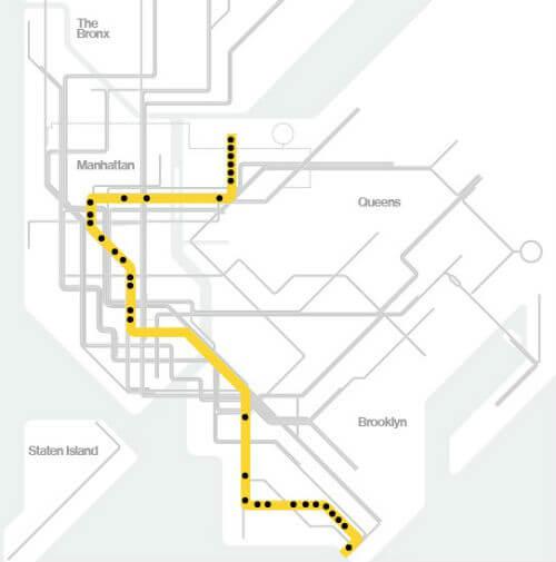 Plan Metro New York Ligne N