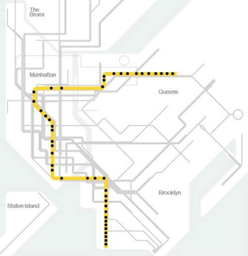 Plan Metro New York Ligne R