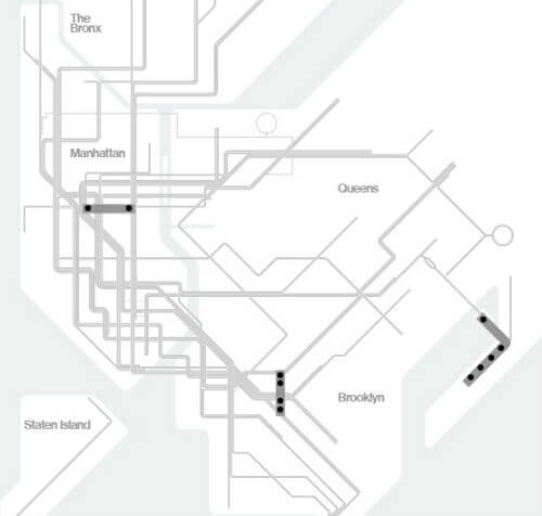Plan Metro New York Ligne S