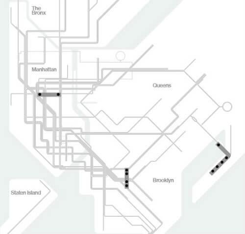 Plan Metro New York Ligne S
