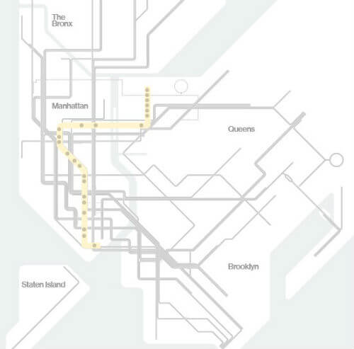 Plan Metro New York Ligne W