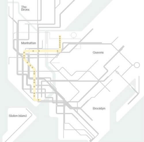 Plan Metro New York Ligne W