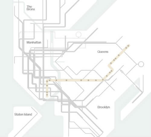 Plan Metro New York Ligne Z