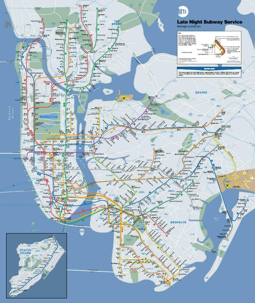 obtenir carte metro particulier Plan Métro New York (PDF à Imprimer / Interactif). Carte Métro NYC