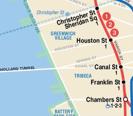 Plan Metro New York Station Express