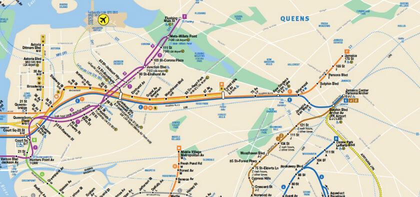 Plan Metro Queens New York