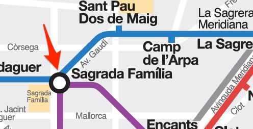 Plan correspondance lignes métro Barcelone